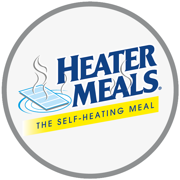 HeaterMeals® The Self-Heating Meal Logo - Most popular self-heating, homestyle meal kits designed for military and civilian use