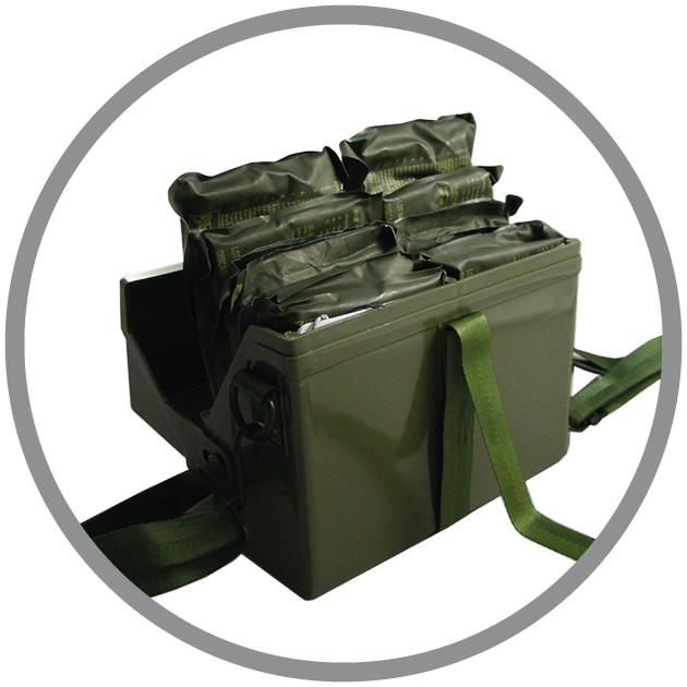 M256A1 Chemical Agent Detector Kit is used to confirm the absence or detect the presence of chemical agents in the air