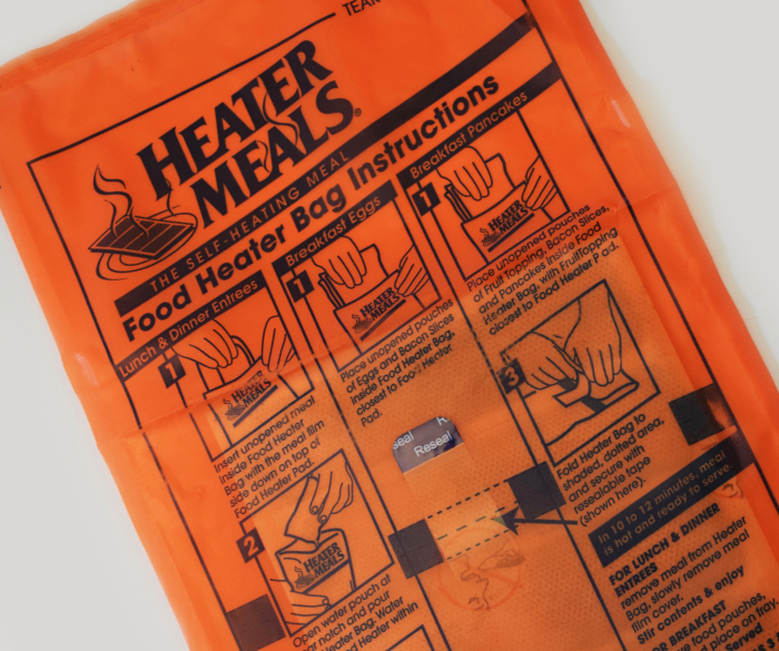 HeaterMeals® food heater bags are convenient and compact, designed for use with TRUETECH® self-heating meal kits